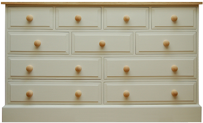 4 over 3 over 2 over 2 Chest of Drawers