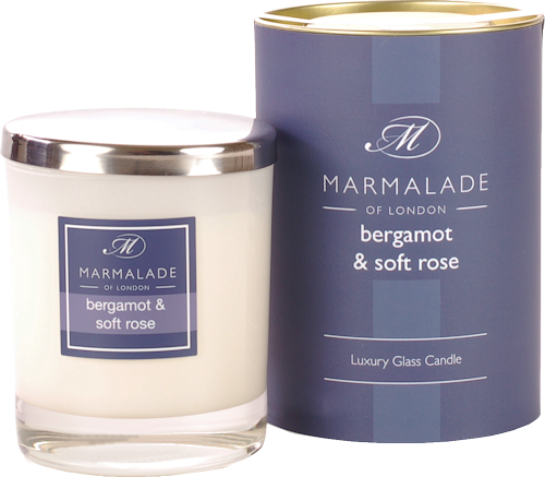 Marmalade Bergamot and Rose Scented Candle