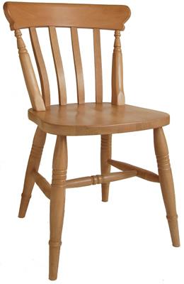 Slat Back Beech Chair