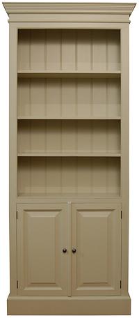 Edwardian Style Open Bookcase Cupboard