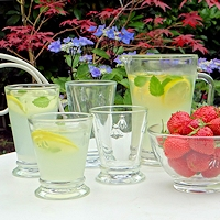French Bee Motif Glassware