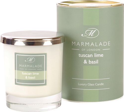 Marmalade Tuscan Lime and Basil Scented Candle