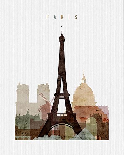 Paris City Poster