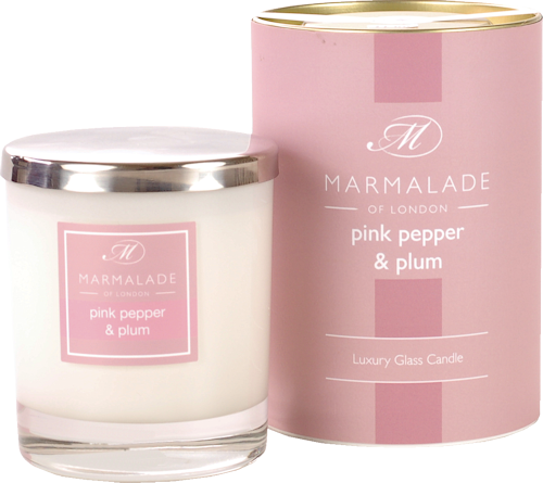 Marmalade Pink Pepper and Plum Scented Candle