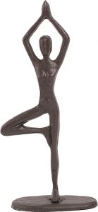 Yoga tree pose statuette