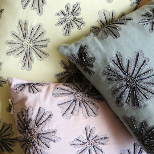 Beaded Cushions