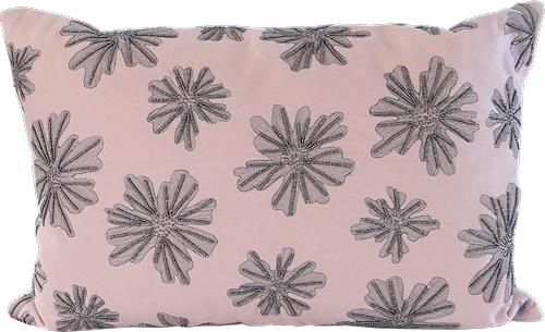 Blush Beaded Cushion