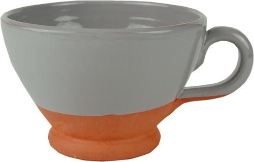 Pastel grey breakfast cup