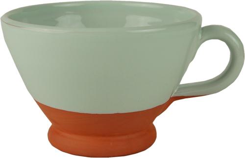 Pastel pale mint breakfast cup