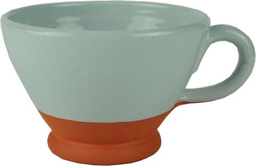 Pale blue breakfast cup