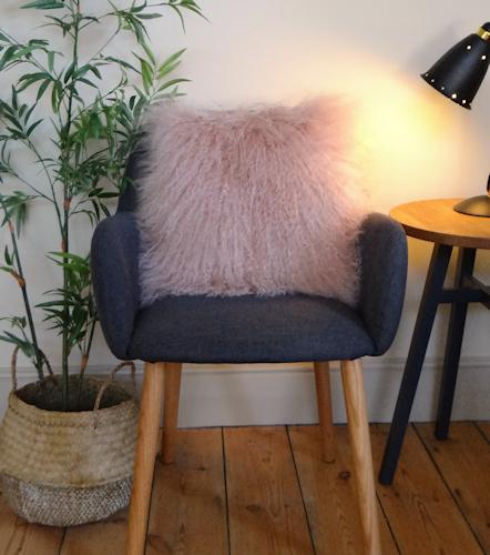 Pink Mongolian Cushion