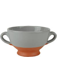 Rustic dipped pottery