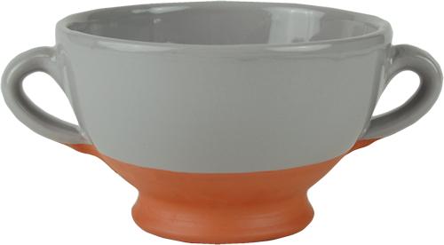 Grey soup bowl