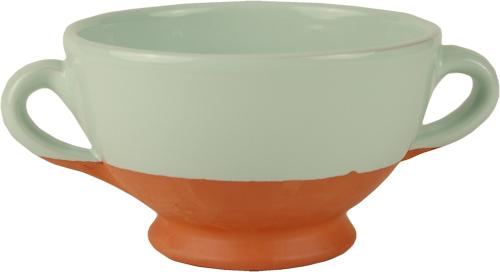 Pale Mint Soup Bowl