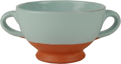 Pale Blue Soup Bowl
