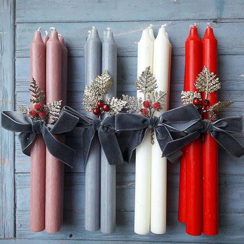 Single colour Danish candles