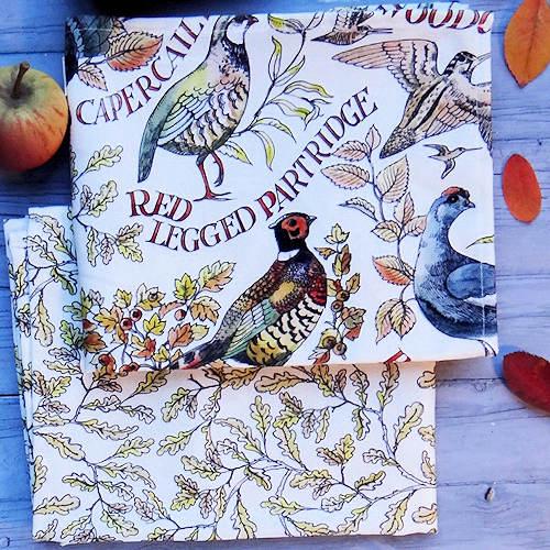 Emma Bridgewater Game Birds pattern tea towels
