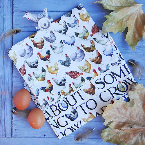 Emma Bridgewater Hen and Toast pattern tea towels