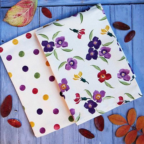 Emma Bridgewater Wallflower pattern tea towels