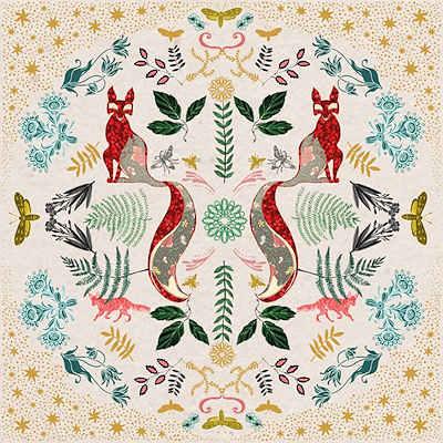 Kaleidoscope Fox by Josie Shenoy