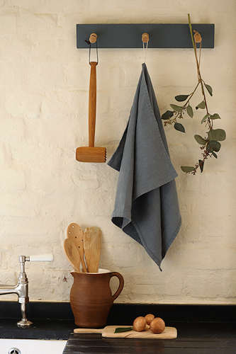 Blue Fog linen tea towel