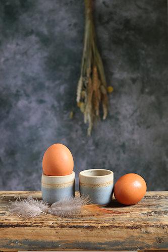 LIbby Ballard Indigo Egg cup