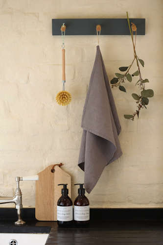 Fig linen tea towel