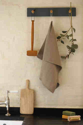Natural pure linen tea towel