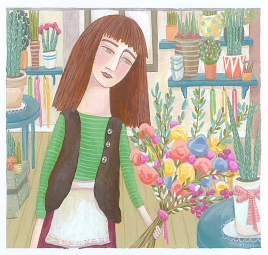 The Flower Shop Girl by Kerry Timewell