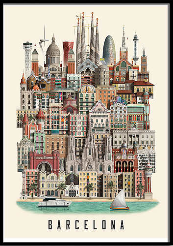 Martin Schwartz Barcelona Poster