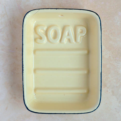 Yellow Ceramic Soap Dish