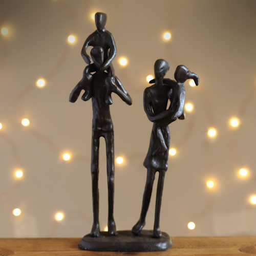 Family of Four Statuette