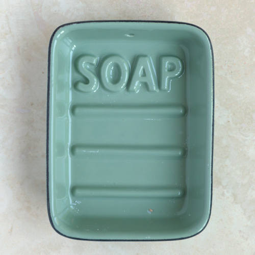 Green Ceramic Soap Dish