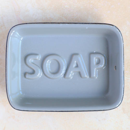 Grey Ceramic Soap Dish