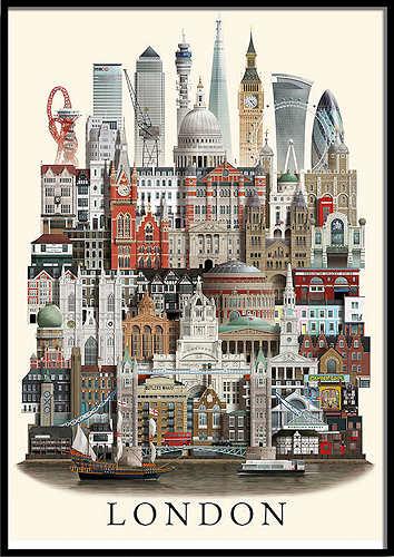 Martin Schwartz London Poster