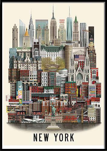 Martin Schwartz New York Poster