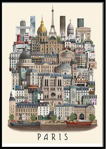 Martin Schwartz Paris Poster
