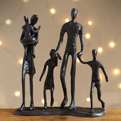 Cast Iron Contemporary Statuettes