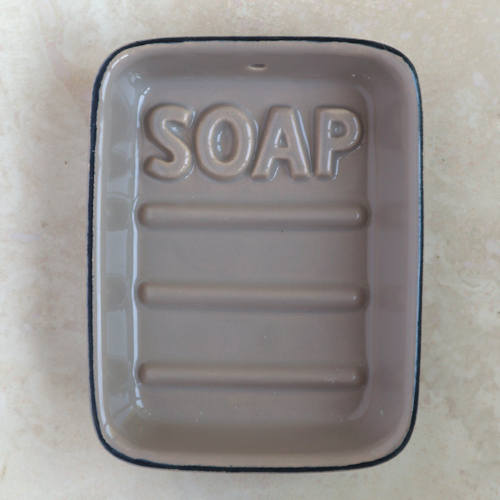 Taupe Ceramic Soap Dish