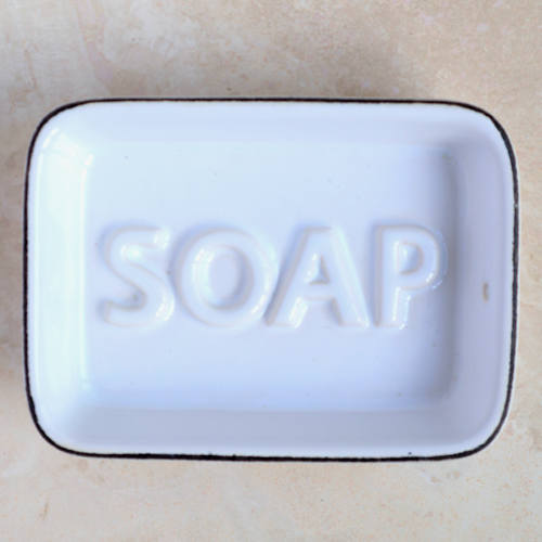 White Ceramic Soap Dish