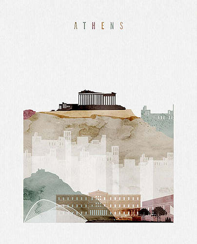 Athens City Poster