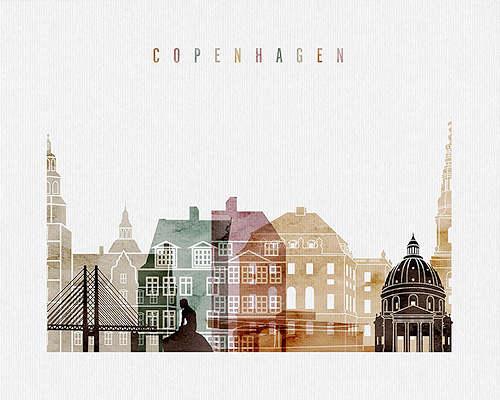 Copenhagen City Poster