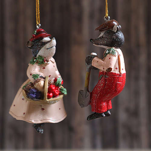 Badgers Hanging Decoration.