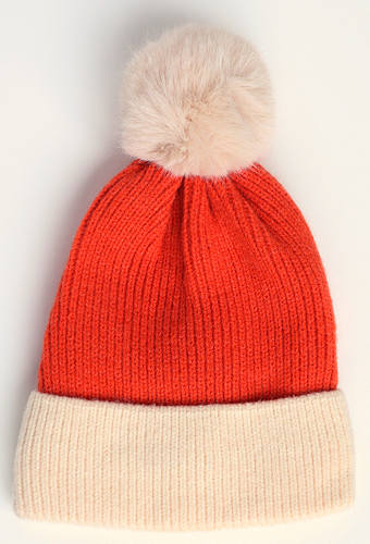 Burnt Orange Bobble Hat