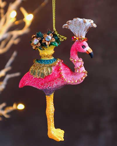 Exotic Flamingo Christmas Decoration