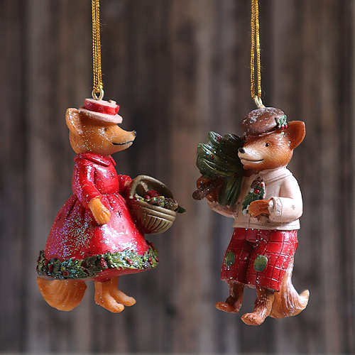 Foxes Hanging Decoration.