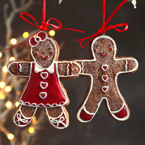 Gingerbread Couple Christmas Decoration
