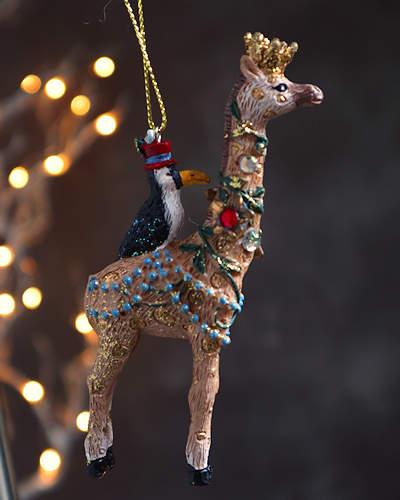 Exotic Giraffe Chrstmas Decoration.