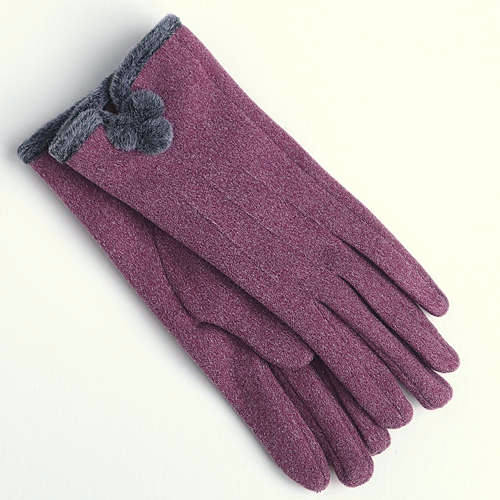 Grape PomPom Gloves