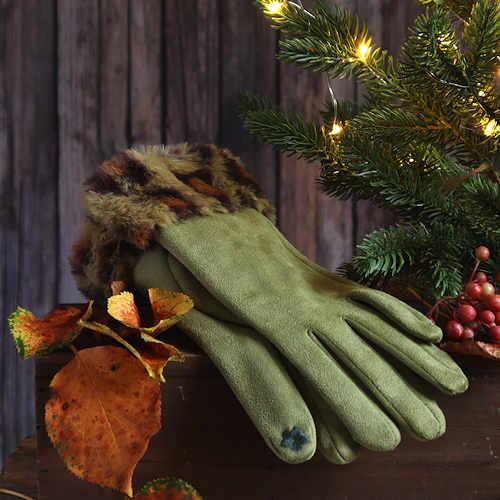 Faux Suede Comfy Gloves